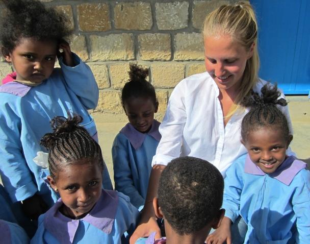 Larissa Brachvogel Etiopijoje, nuotr. iš asmeninio albumo