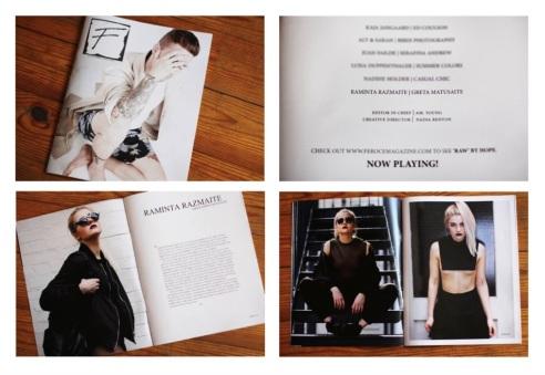 """Raminta ilgai dvejojo, ar mados istorijos atsiskaitymui rengtus darbus siųsti į JAV, Jungtinėje Karalystėje ir Australijoje populiarų žurnalą """"Fero Magazine"""". Fotografijos buvo išspausdintos ir puikiai įvertintos (nuotr. iš asm. albumo)"""