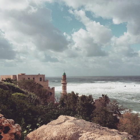 Vėjuotas Tel Avivas vasarį, Justės Gudauskytės asmeninio albumo nuotr.