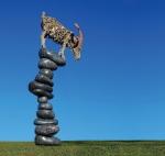 "Jameso Dorano-Webbo skulptūra ""Ožys"", nuotr. iš asm. albumo"