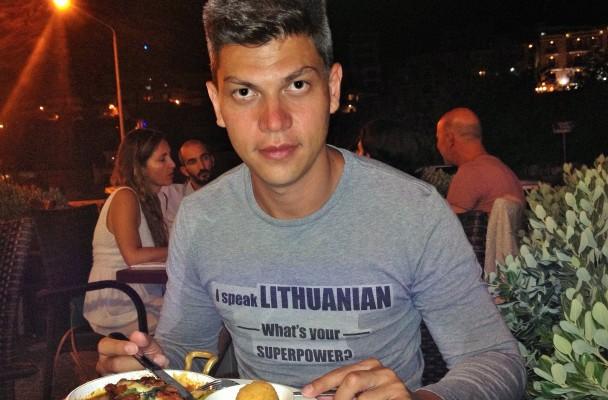 Ivanas Dzhumerovas lietuvių kalbos mokosi jau daugiau nei trejus metus, nuotr. iš asm. albumo