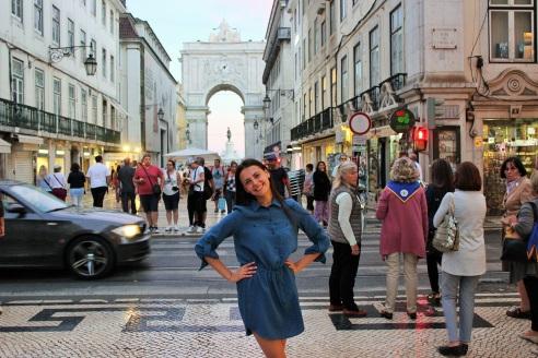 """Giedrė Zubrickytė """"Erasmus+"""" mobilumo programos metu Lisabonoje, nuotr. iš asm. albumo"""