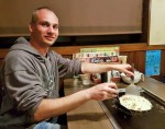 Davide Molteni restorane Japonijoje, nuotr. iš asm. albumo