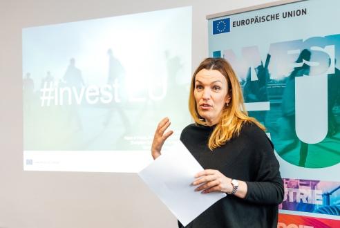 "Austrijos ""Caritas"" atstovė Karoline Mätzler, EK nuotr."