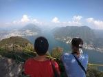 Su draugu iš Čilės Deivydas įkopė į aukščiausią apylinkių viršukalnę, nuotr. iš asm. albumo