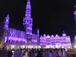 Viena iš labiausiai Rytį Skamaraką suvažėjusių Briuselio vietų − centrinė aikštė, naktimis nušvintanti įvairiomis spalvomis, nuotr. iš asm. albumo
